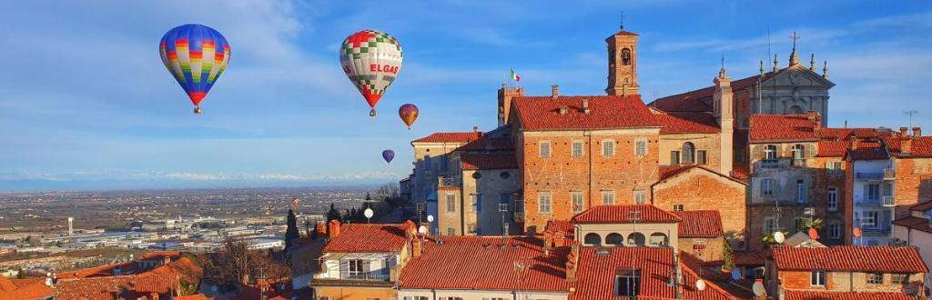 Ballonfahren im Piemont