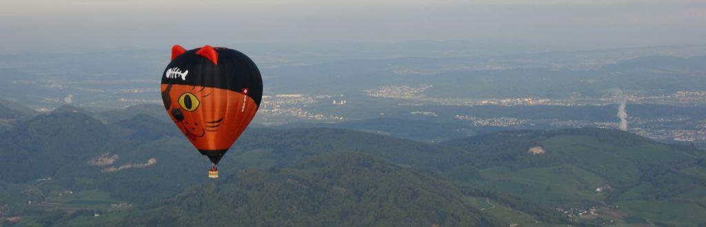 Ballonfahrt über dem Baselbiet mit Ballonpilot
